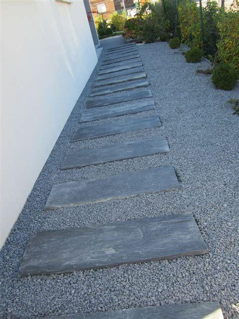 terrasse gravier dalles d ardoise et gravier gris cubes et terrasses par