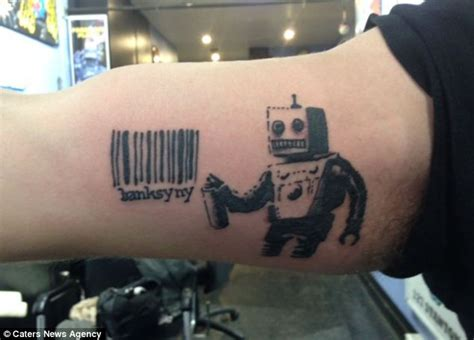banksy new yorkers flock to get banksy inspired tattoos