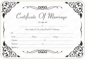 marriage certificate templates free free wedding certificate template with traditional swirls
