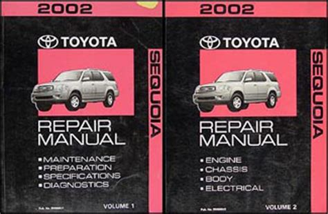 old car owners manuals 2002 toyota sequoia auto manual 2002 toyota sequoia repair shop manual original set