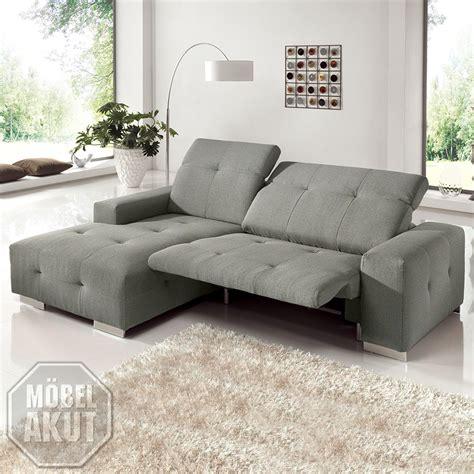 sofa mit ottomane und relaxfunktion ecksofa francisco sofa grau sand mit elektrischer