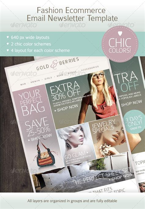 fashion newsletter templates fashion ecommerce email newsletter template email