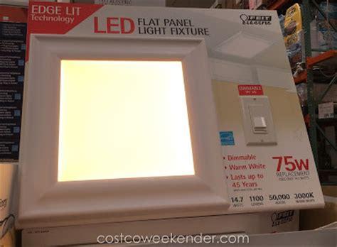 feit led flat panel light fixture 15 quot x 15 quot costco