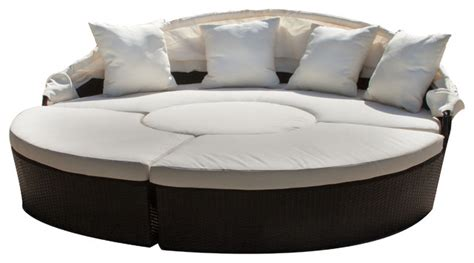 Bellagio 4 Piece Outdoor Sectional Daybed Contemporary