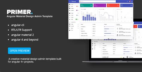 Primer Angular 6 Material Design Admin Template By Angular Ecommerce Template