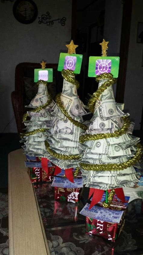 Gift Card Tree Ideas For Christmas - money trees with lottery tickets as gifts very easy to