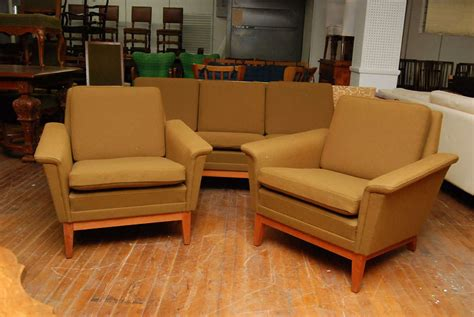 olive green couches danish modern olive green sofa set at 1stdibs