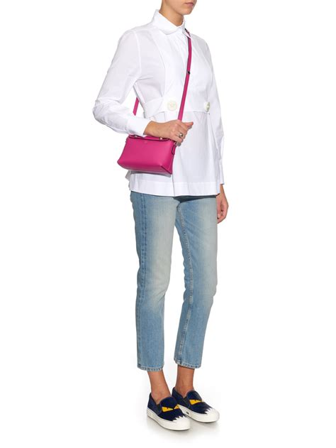 Fendi By The Way M3569 1 fendi by the way mini leather cross bag in pink lyst