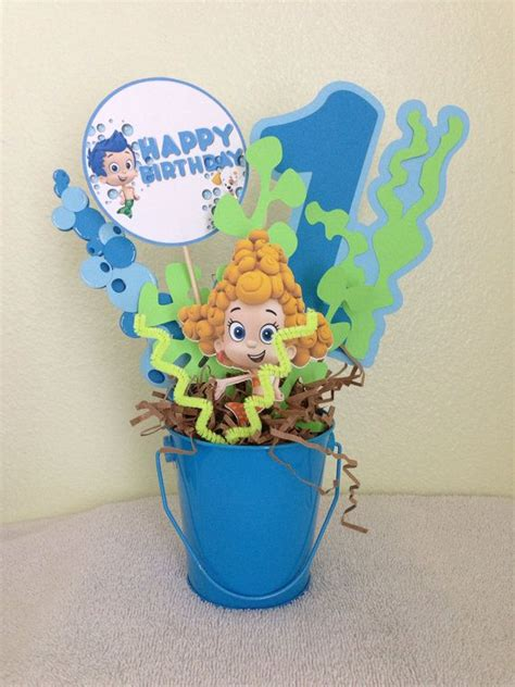 Bubble Guppies Centerpiece By Euphoriceffect On Etsy 15 Guppies Centerpiece Ideas
