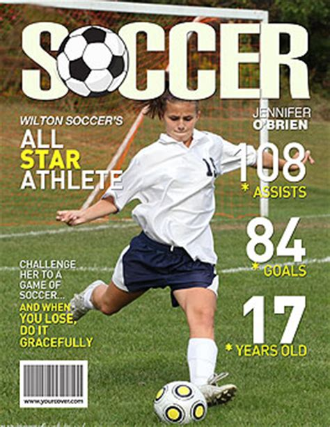 custom magazine cover templates soccer yourcover