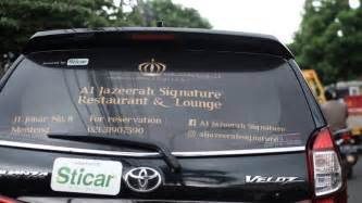 Sticker Kaca Belakang Model Hantu Mobil Car Sticker sticker untuk kaca belakang mobil kamos sticker