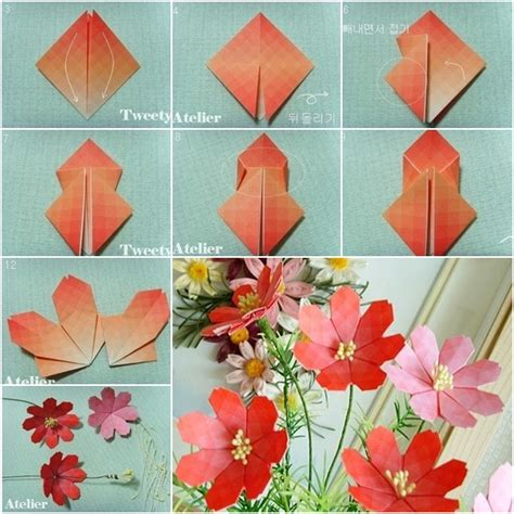 How To Make A Flower Origami - ikuzo origami