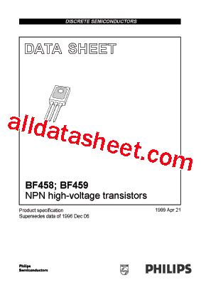 Mpsa42 Philips Nos bf458 datasheet pdf nxp semiconductors