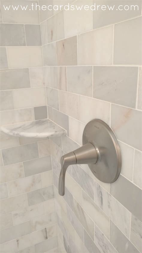 Update Bathroom Tile by Bathroom Shower Update The Cards We Drew