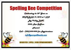 Spelling Bee Invitation Template by 15 Colorful Spelling Bee Invitation Templates Free To