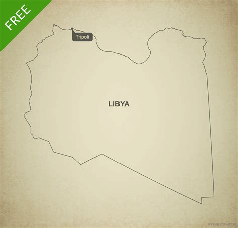 Libya Map Outline by Free Vector Map Of Libya Outline One Stop Map