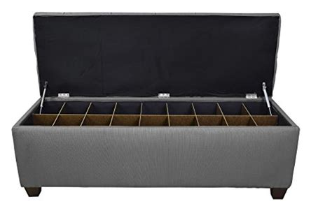 shoe storage ottoman bench the sole secret button tufted ottoman with shoe storage