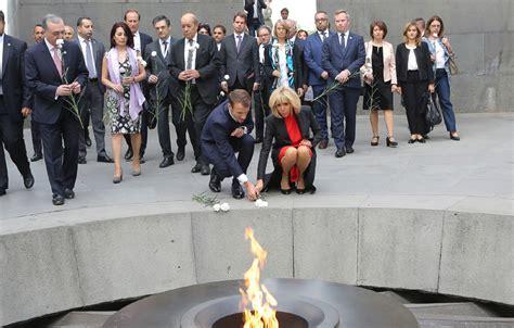 emmanuel macron yerevan french president emmanuel macron visits armenian genocide