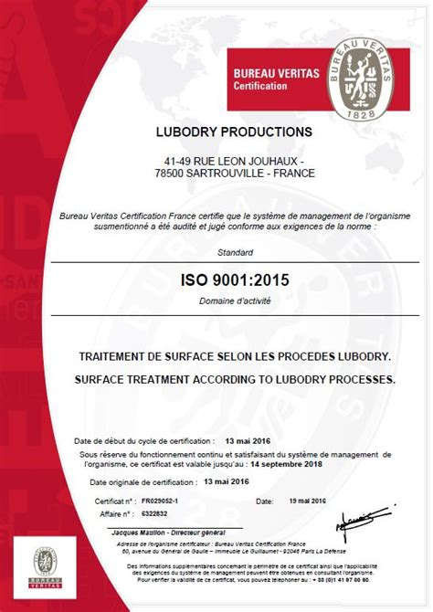certification iso 9001 2015 attribu 233 e 224 lubodry