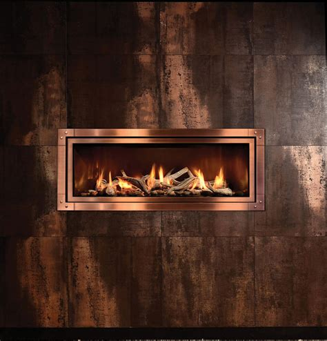Linear Gas Fireplaces by Mendota Ml47 Mod Fullview Modern Linear Gas Fireplace