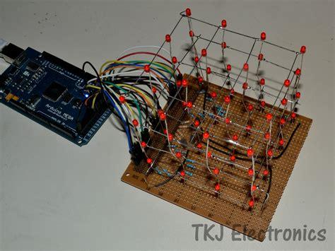 code arduino led cube tkj electronics 187 4 215 4 arduino controlled led cube