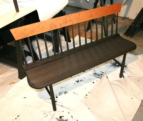 shaker settee shaker settee after application of aniline dye legs and