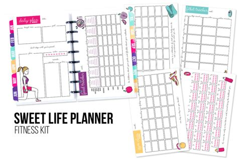 sweet life printable planner serenity edition fitness planner printable i heart planners