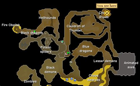 taverly dungeon osrs map newhairstylesformen2014 com chaos druids the excellent money maker for mid levels