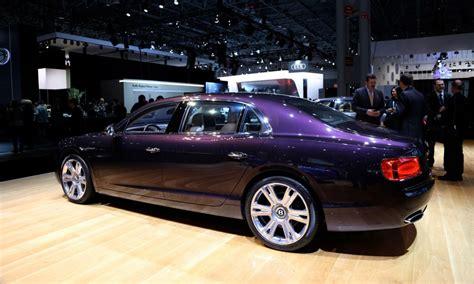 purple bentley north american debut for new bentley flying spur