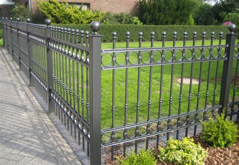 decorative metal fencing unique hardscape design