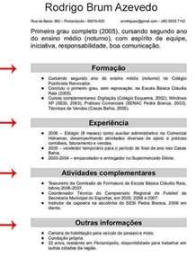 Curriculum Vitae Academia by Modelos De Curriculos Prontos 2013 Para Preencher E