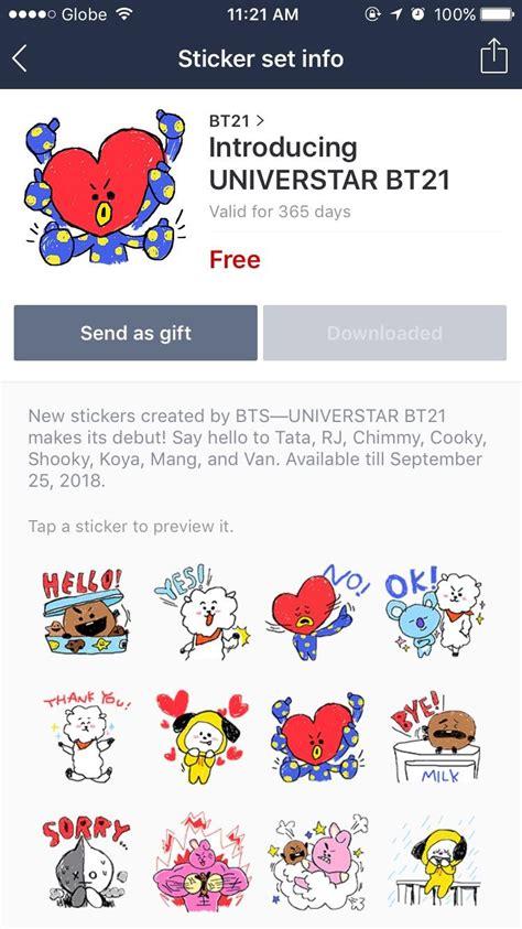 bts universtar bt21 170926 introducing universtar bt21 bts line stickers