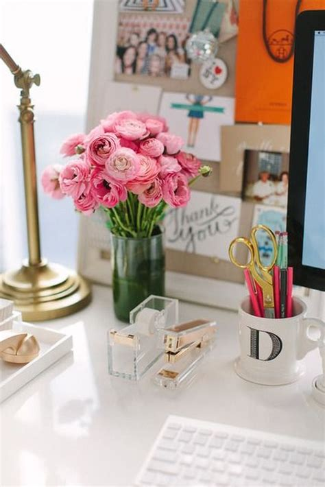 flowers for office desk how to bring a few feminine accents into your home