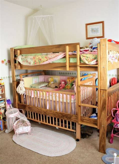 bunk bed with crib underneath 17 best ideas about bunk bed crib on pinterest toddler