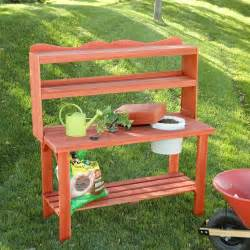 Potting Bench For Sale Wood Country Master Gardener S Cedar Wood Potting Bench