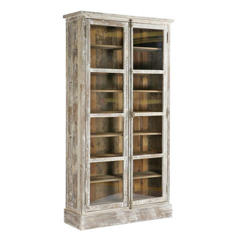 Lorraine Heavy Vintage White French Country Bookcase Vintage White Bookcase