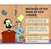 Mistakes Often Made By New Judges  Udge Cartoon