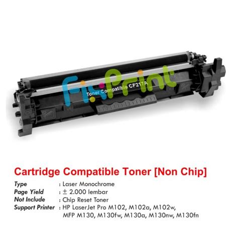 Printer Laserjet Hp M102a Original jual cartridge toner compatible hp cf217a 17a printer hp
