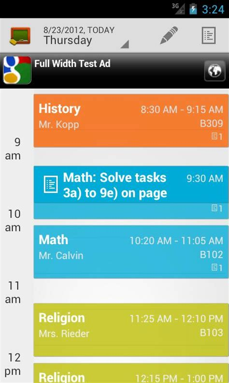 school scheduling app my class schedule timetable android apps on