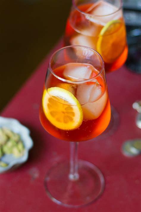 Happy Hour Pomtea Spritzer by Classic Aperol Spritz Cocktail