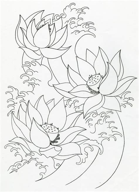 coloring pages japanese flowers simple flower outline coloring home