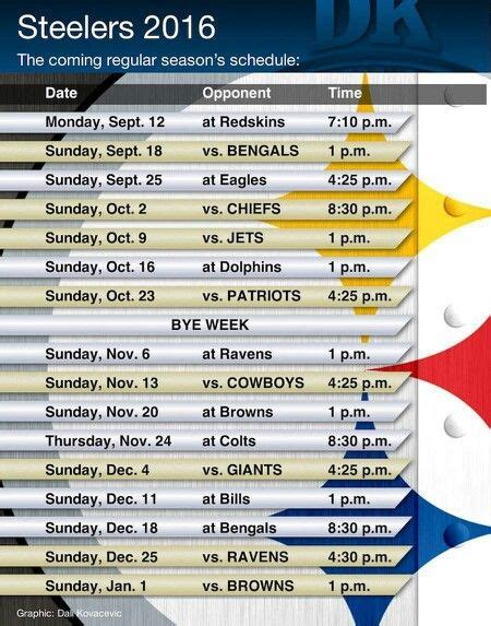 Calendario Football 2016 17 Best Ideas About Steelers Schedule On Nfl