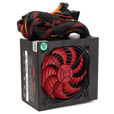 computer power supply fan 500w gaming smart silent 80mm cooling fan atx 12v computer