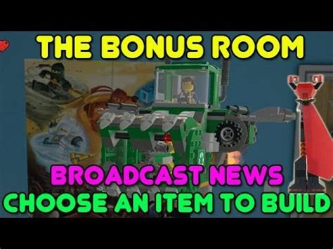 lego bonus room the lego choose an item to build broadcast news bonus room