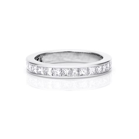Wedding Bands Princess Cut by 2 Carat Eternity Princess Cut Wedding Band Ring