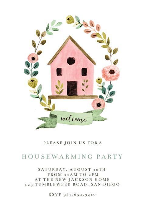 bird house housewarming invitation template
