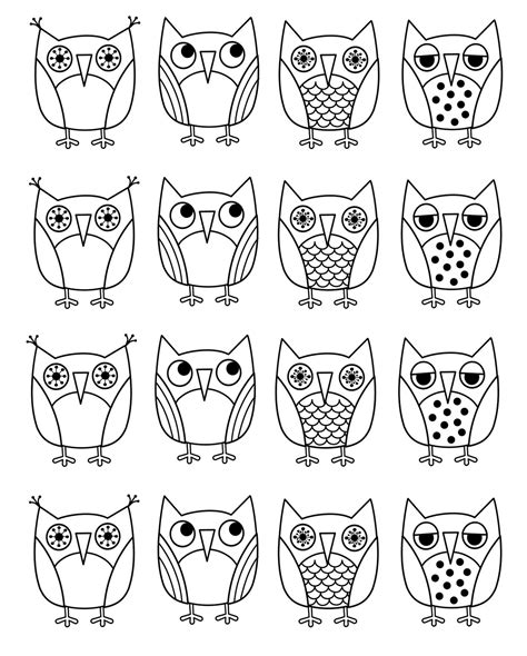 owl coloring pages pdf free coloring pages of owl pictures