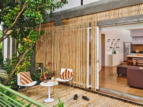 desain rumah bambu unik sederhana modern rumah impian