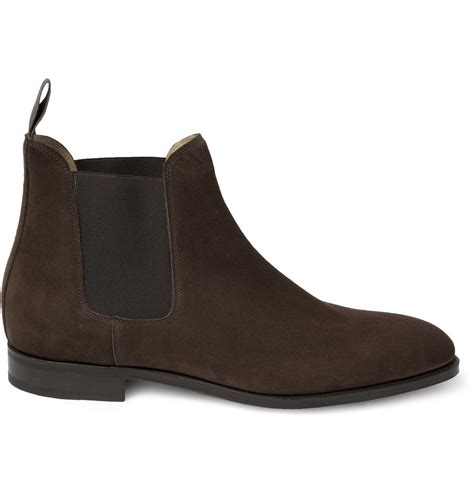 chelsea suede boots mens lyst lobb chesland suede chelsea boots in brown for