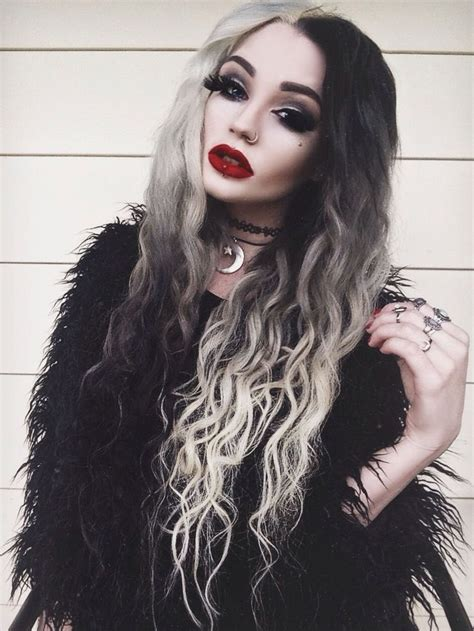 black and white hair color hair raising ideas for your halloween do get them now